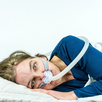 man unhappy with CPAP machine