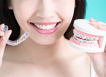 braces vs. clear aligner